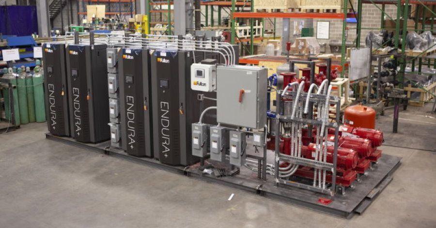Modular boiler plants and pre-fabricated mechanical skids